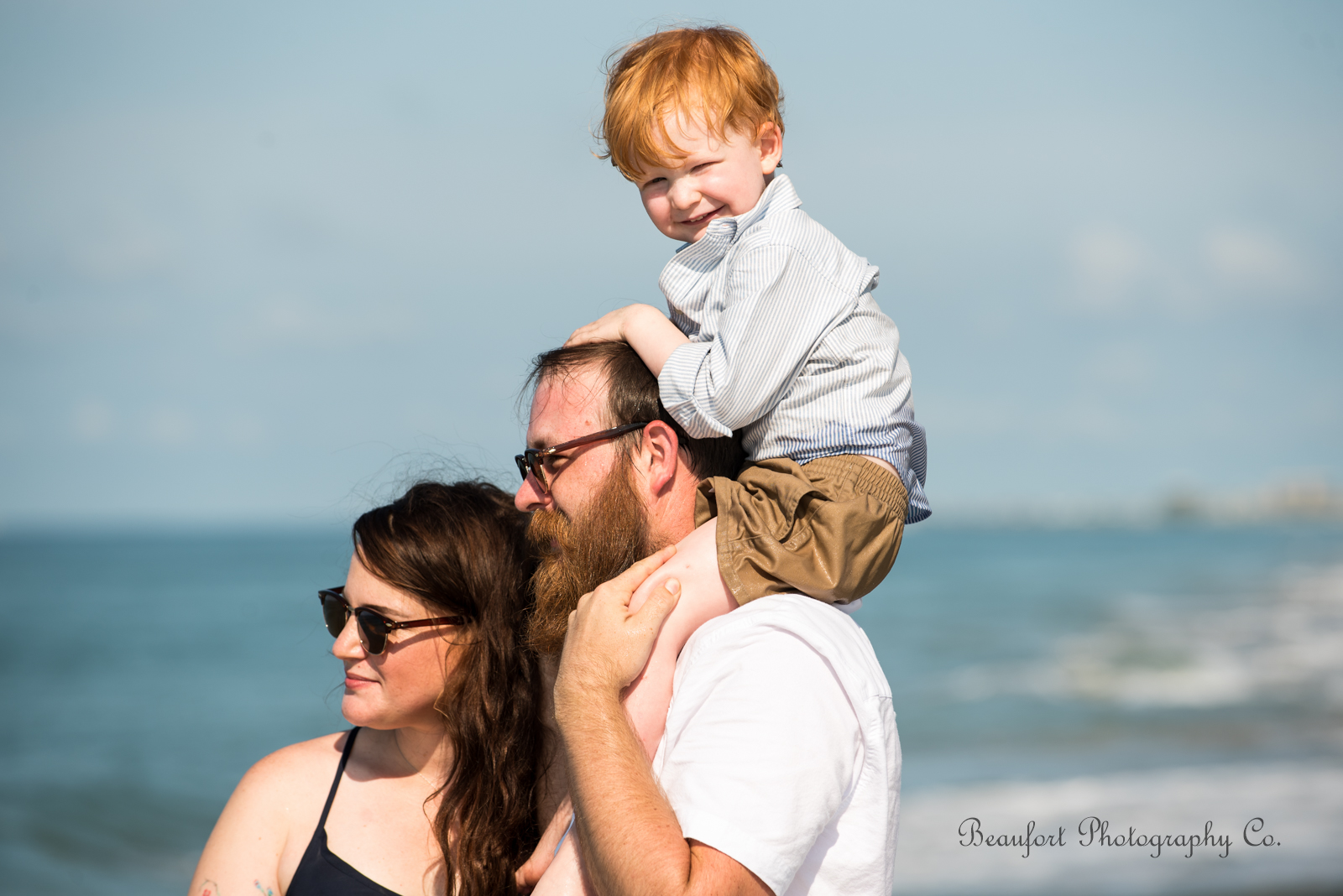 Beaufort Photography Co. lifestyle family portrait Beaufort Crystal Coast beach photo